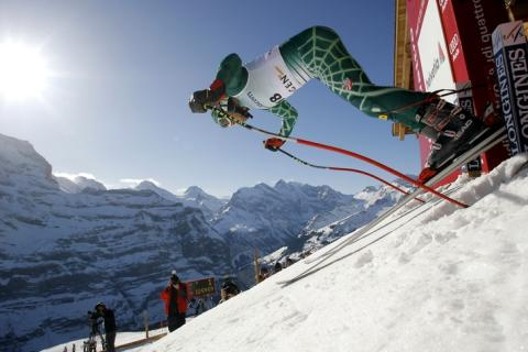 Bode Miller explodes out of the starting gate