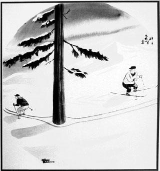 1940 Ski cartoon